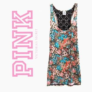PINK VS | FLORAL LACE TANK TOP